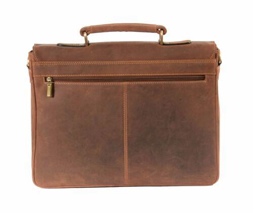 Uomo vera pelle ventiquattrore marrone chiaro Vintage Borsa a Tracolla Ufficio Borsa BUSINESS COLLEGE Uni