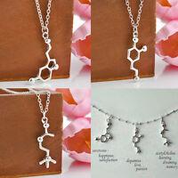 DNA Necklace Pendant Serotonin Dopamine Acetylcholine Biochemistry Molecule Gift