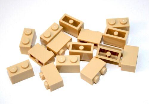15x LEGO® Stein 1x2 3004 NEU Beige Tan Sand