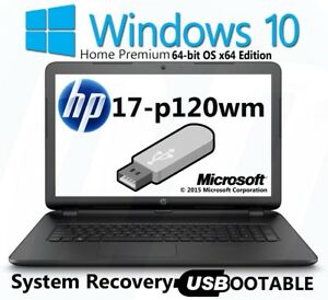 Hp 17 P120wm Factory Recovery Usb Flash Drive Bootable