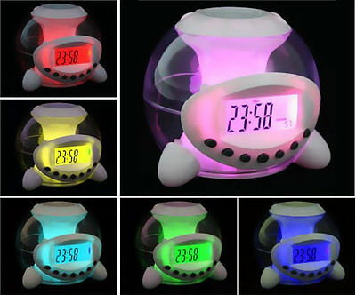Colorful Digital LED Alarm Desk Clock w/ Nature Chimes