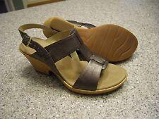 CLARKS Women's Shoes Size 7 1/2 M  BRONZE WEDGE SANDALS LN