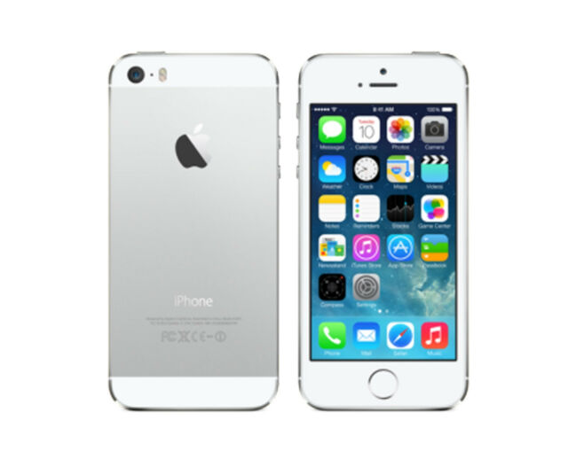 APPLE iPhone 5s 16GB SILVER WHITE FACTORY UNLOCKED SMARTPHONE SB