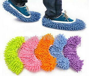 House-Floor-Foot-Sock-Shoe-Mop-Slipper-Lazy-Quick-Polishing-Cleaning-Dusting-IUU