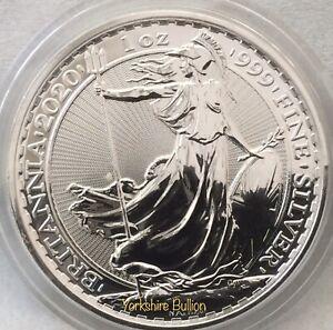 1oz Silver 2020 Royal Mint Britannia - With Capsule