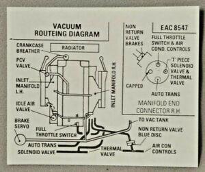 Details about Jaguar 1986 Vacuum Routing Diagram Sticker EAC-8547 . on jaguar socks, jaguar lawn mower, jaguar electronics, jaguar tank,