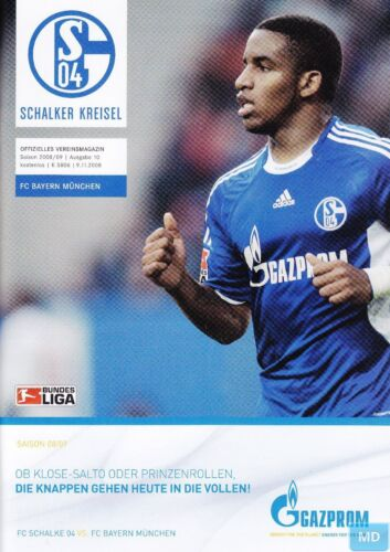 FC Schalke 04 vs FC Bayern München 09.11.2008 Schalker Kreisel Programm
