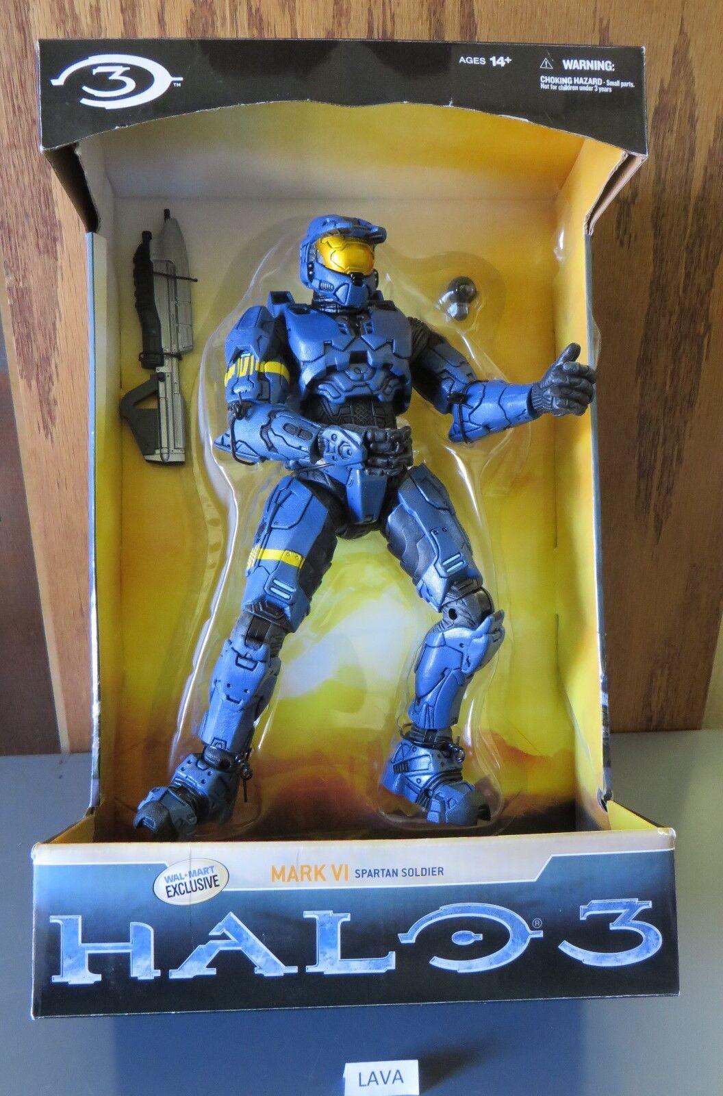 HALO 3 DELUXE blueE MARK VI SPARTAN WALMART EXCLUSIVE ACTION FIGURE MCFARLANE