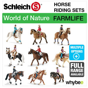 Details about SCHLEICH WORLD OF NATURE FARM LIFE HORSE RIDING SETS HORSE  TOYS & FIGURES SETS