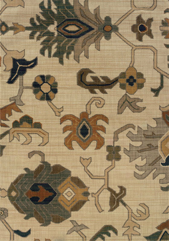 4x6 Sphinx Stylized Floral Casual Ivory 3936F 3936F 3936F Area Rug - Approx 3' 10  x 5' 5  e42a47