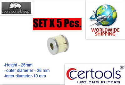 5x LPG Filter CERTOOLS  CI-229 FOR RGJ Smart Lovato
