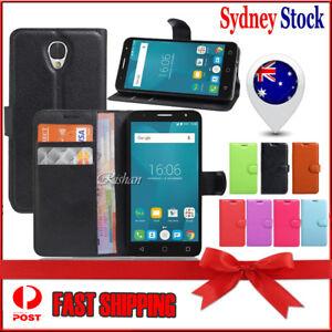 newest a2b3b d68c0 Details about Wallet Leather Flip PU Card Case Cover For Optus X Smart /  Alcatel pop 4 Plus