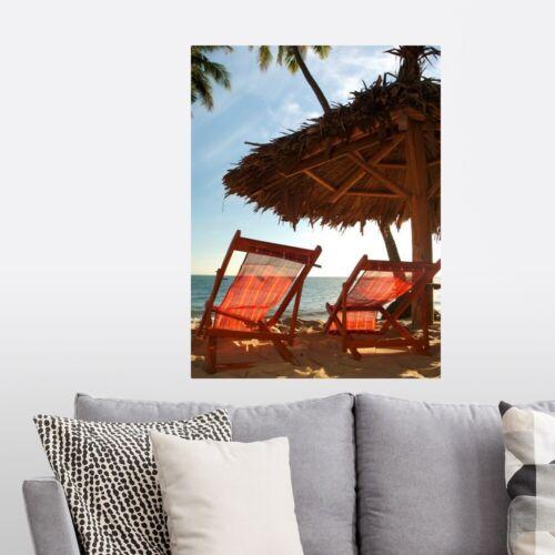 Coastal Home Decor Tropical Beach Seats Poster Art Print