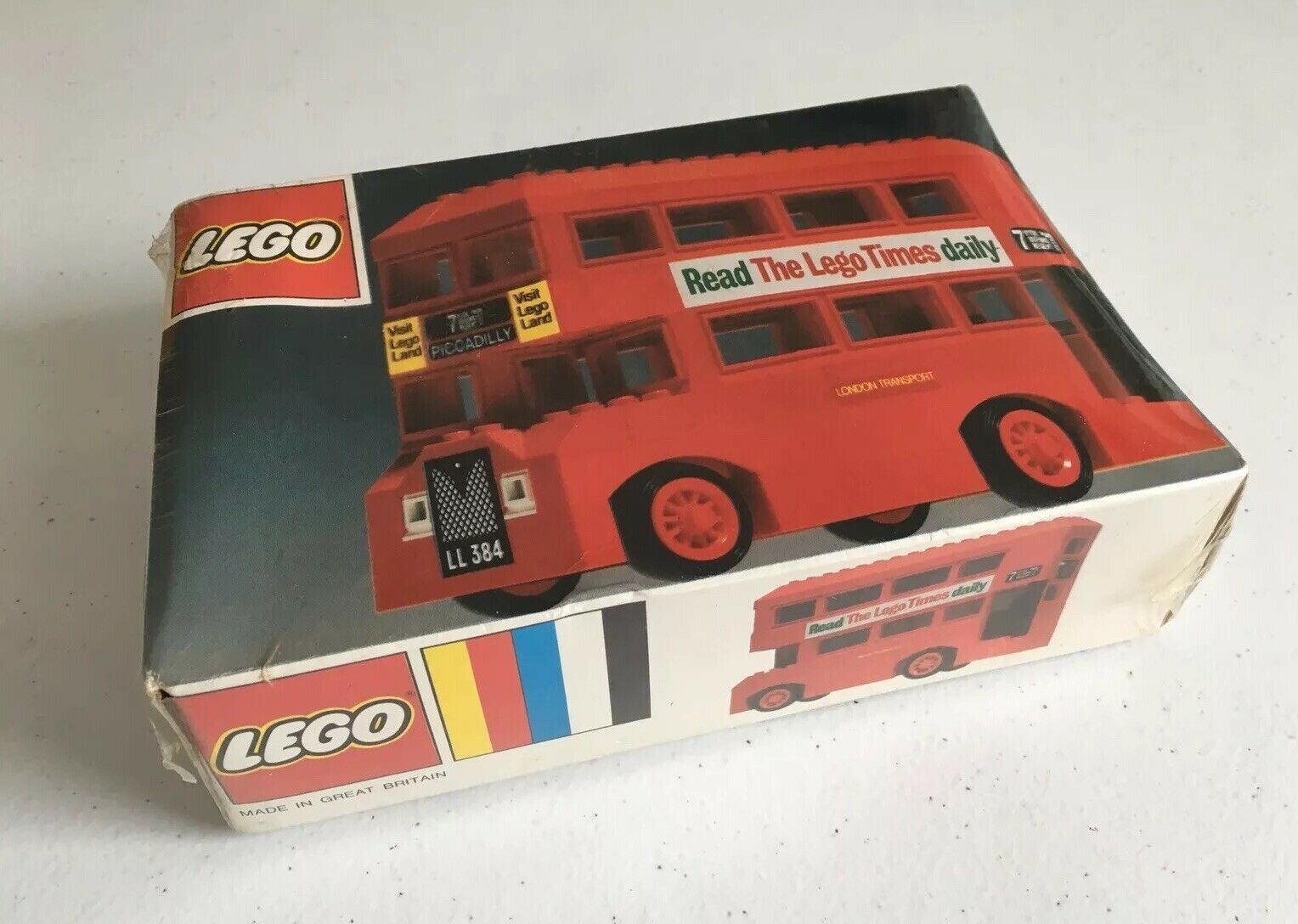 LEGO vintage rare set 384 LEGOLAND Vintage London Bus Neuf Scellé Neuf UK 1973