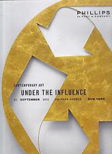 Phillips de Pury 20 Sept 2012 sale catalog CONTEMPORARY ART UNDER THE INFLUENCE