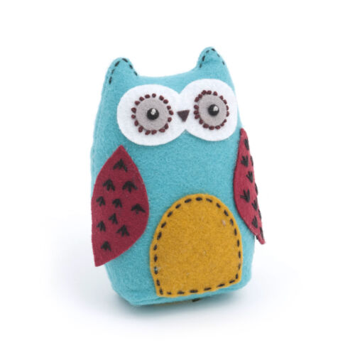 1x Print  Owl Pincushion Hoot Sewing Craft Tool Hobby Art UK Bulk Filoro