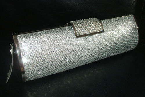 Sac New Hardcase main Occasion Diamante ᄄᄂ Coffret Glitter Embrayage Silver zpGSqMVU