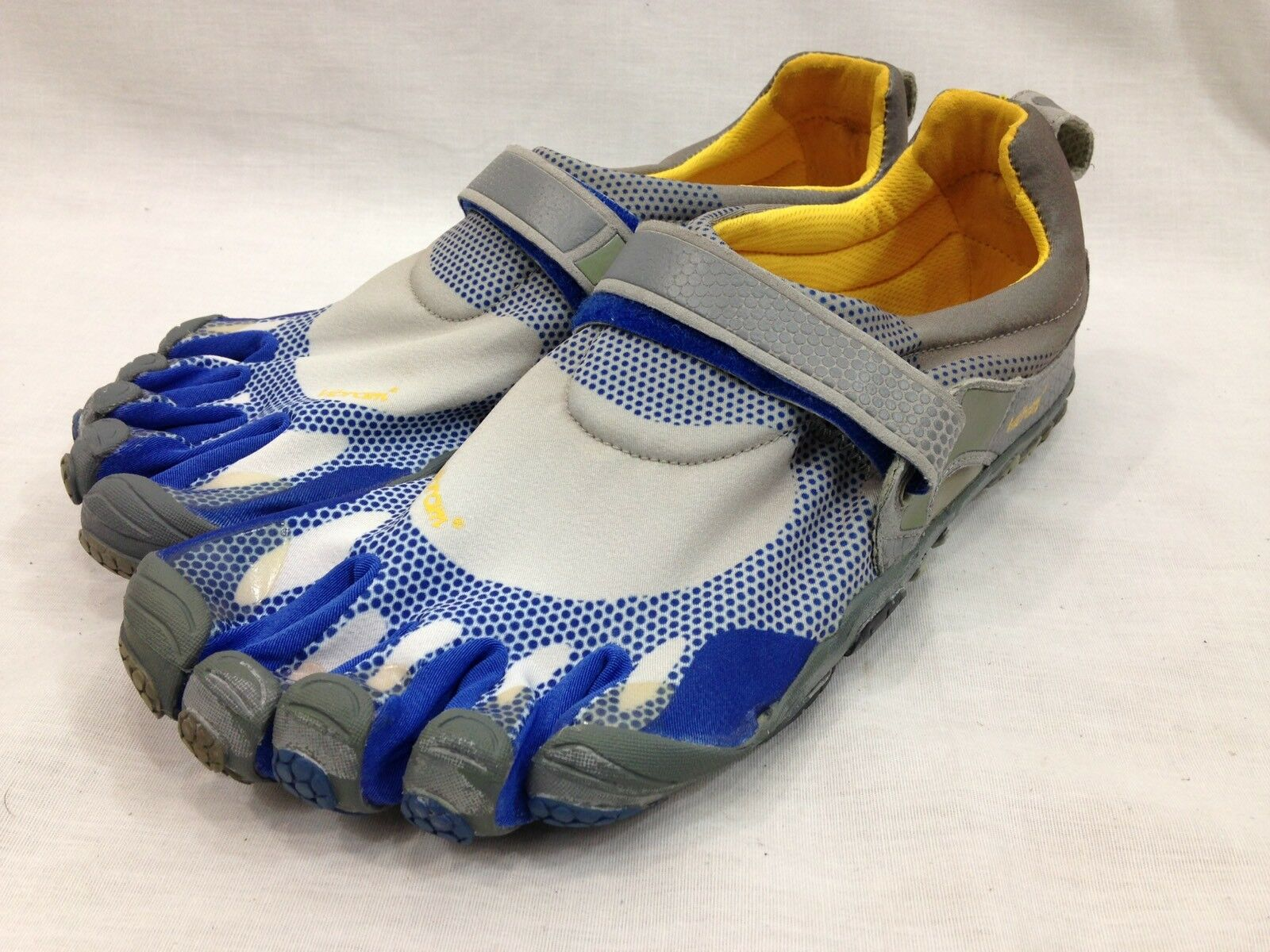 Vibram Five Fingers 349 Chaussures hommes Euro 43 US 10 bleu Yellow Minimalist Running