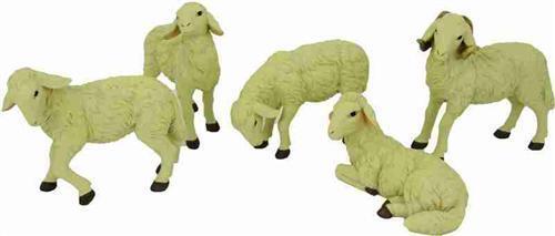 Krippenfiguren Tiere Schafe Schafherde 5 teilig für Figuren 50-60 cm cm cm | Neu  a46100