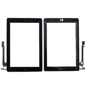 Pantalla-Tactil-para-IPAD-4-BOTON-HOME-Cristal-Digitalizador-Negro-con-Adhesivo