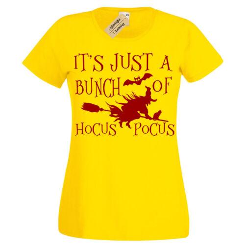 Hocus Pocus Halloween T-shirt sorcière balai pour femme femmes