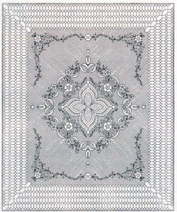 Garden-Bouquet-Premarked-Wholecloth-Quilt-Top-88-034-x-106-034-Two-Colors-Available