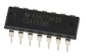 10PCS-CD4093BE-CD4093-CMOS-Quad-2-Input-NAND-Schmitt-Triggers