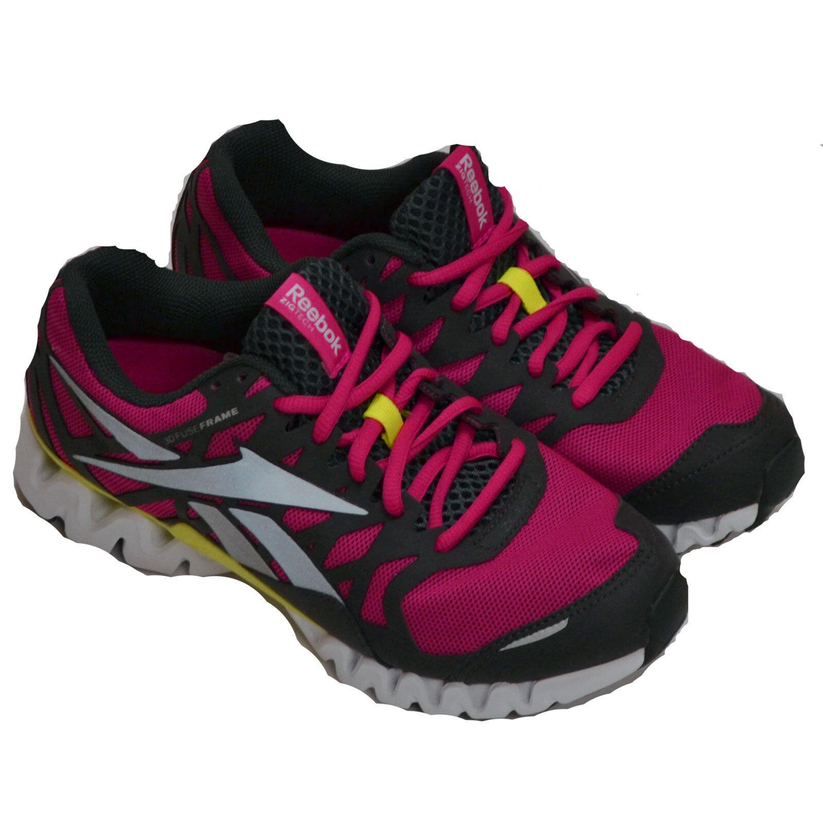 Reebok Running Para Mujer Zapatos Zigtech 3 ex v61915 Lona, medio de formación Zapatillas