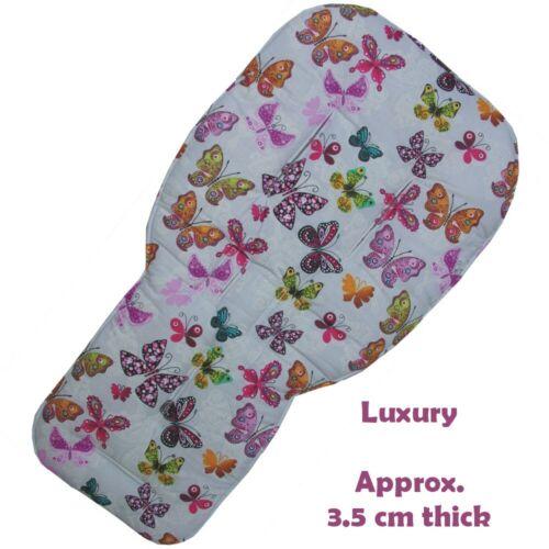 Forros de asiento de diseño mariposas con gris reverso para cochecitos bugaboo