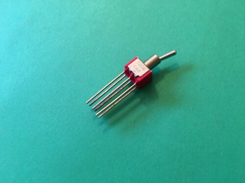 7208SYW4QE  C/&K toggle wire wrap switch DPDT 5A 120V  1 pc
