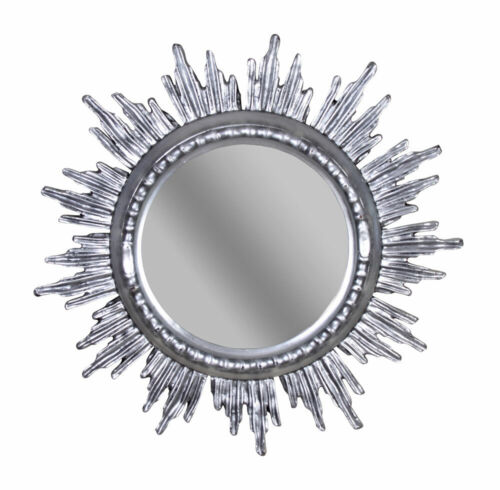 Venezianischer Sonnenspiegel Silber Spiegel Antik Wandspiegel Barockspiegel