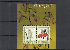 Liberia-2014-MNH-orchidee-dell-039-Africa-2-S-S-II-FIORI-FLORA