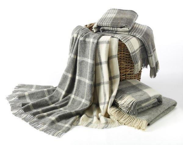 Natural Collection 100% Lana Manta Cobertor British hecho por Bronte en 5 Tonos