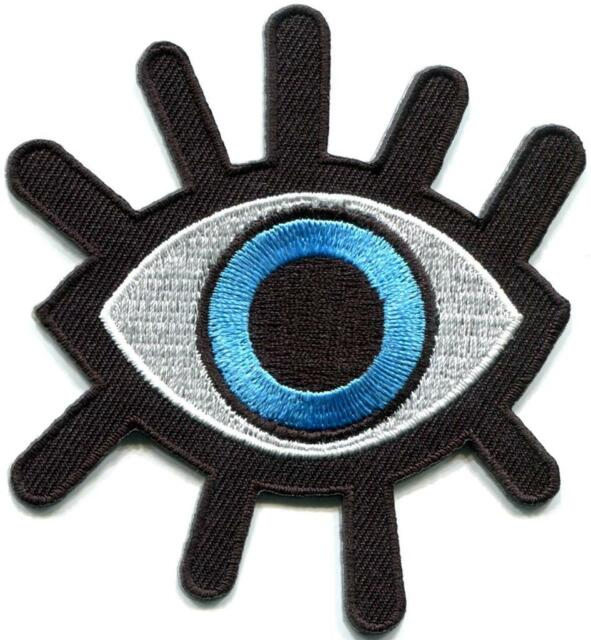 Lot of 6 eye eyeball tattoo wicca occult goth appliques iron-on patches S-1045