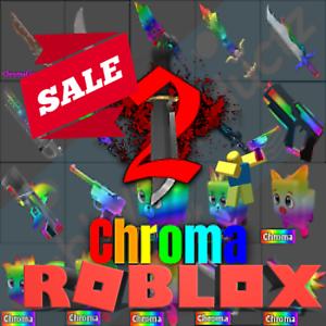 Roblox Murder Mystery 2 Mm2 Chroma Chromas Weapons Godly Knifes And Guns Ebay