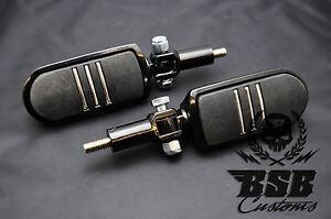 Soziusrasten-Fussrasten-Harley-Davidson-schwarz-Softail-Touring-Sportster-Dyna