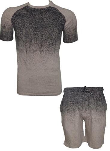 Mens Sports Tshirt /& Shorts Set Running Gym Training Summer Tracksuit New
