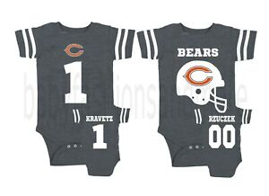 premium selection 55a50 7d65d Details about Personalized custom front/back football jersey style tshirt  bodysuit! Bears fan!