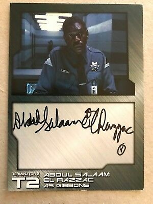 2017 Terminator T2 Aboul Salaam El Razzac As Gibbons Autograph Card