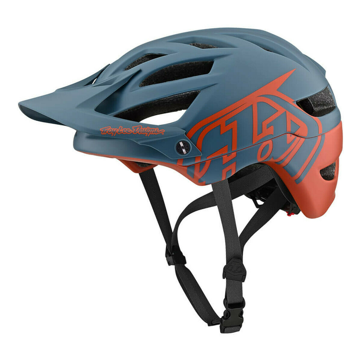 2019 TLD Troy Lee A1 Classic Mips Designs Mountain Bike Casco Air Force blu