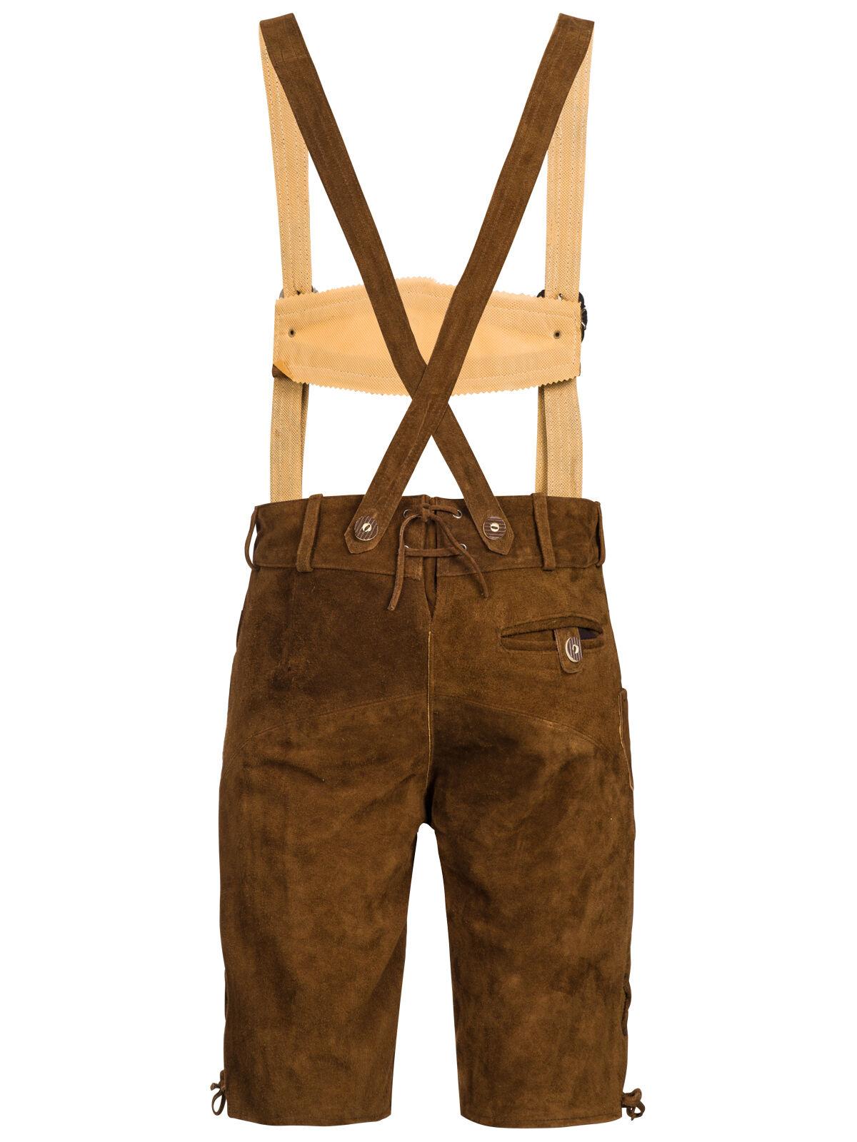 Set Set Set Costume Tradizionale Uomini Pantaloni Folcloristici in Cuoio con Spalline 29e5d1