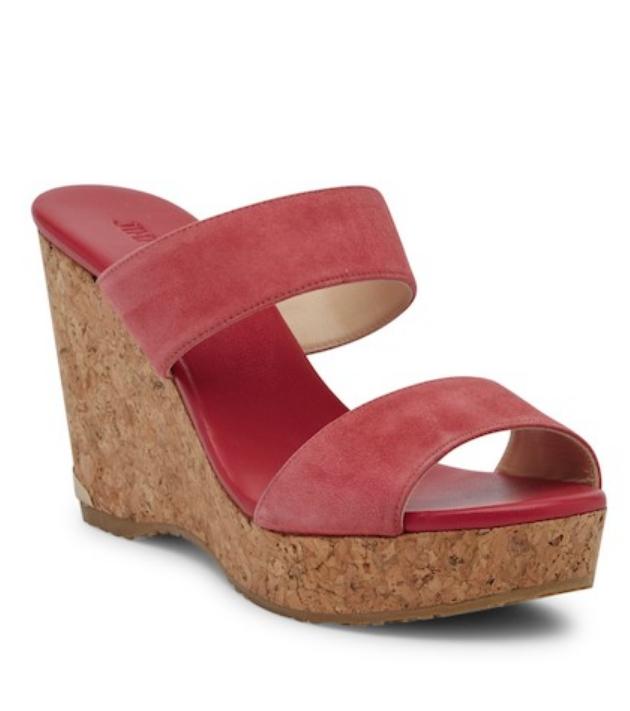 Jimmy Choo Womens Dahlia Parker Cork Wedge Slide Sandal Sz 38 EUR 1266