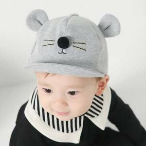 3791d639e2a Cute Toddler Kids Baby Girl Boy Visor Baseball Cat Little Ear Cap ...