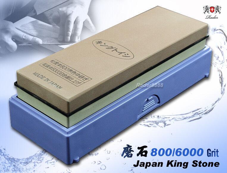 Japanese Whetstone King 800 6000 Grit Combine Stone Sharpener Kitchenware NEW