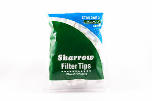 10-Sharrow-Filtro-puntas-Estandar-Mentol-10-Paquetes-x-200-Filtro-Puntas-NUEVO