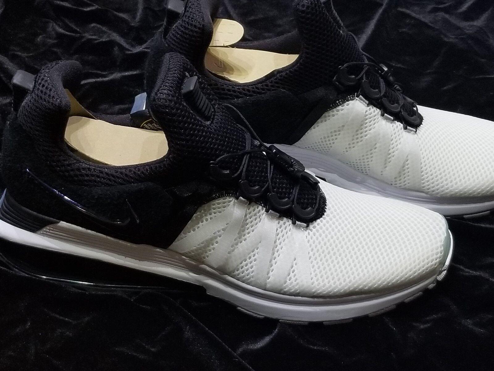 New MENS NIKE  SHOX  GRAVITY BLACK  WHITE  Size 13