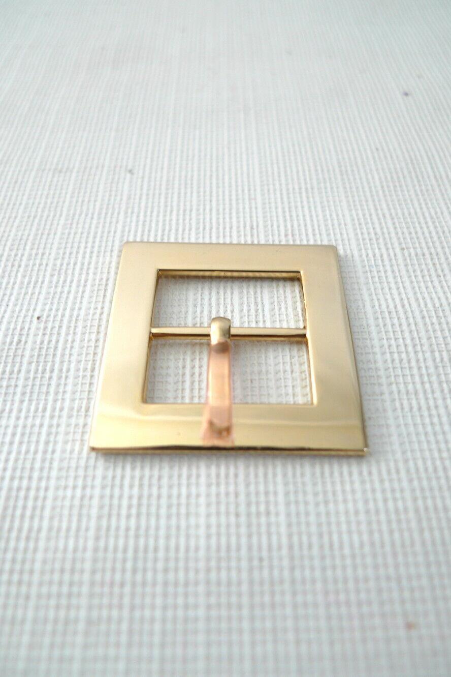 1 Gold Tone METAL BELT BUCKLE Lightweight 1-1/4