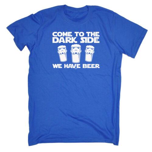 Divertenti Novità T-shirt Da Uomo T-Shirt Tee-Dark Side Birra