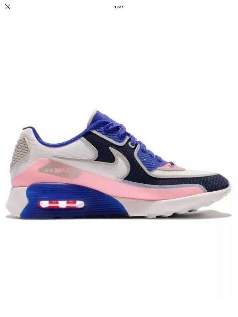 Nike Air Max 90 Ultra 2.0 SI Blue White Running Shoes Wmn's Price reduction