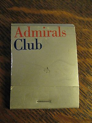 American Airlines AA AAA Admiral's Club Airport Lounge Vintage Matchbook Matches